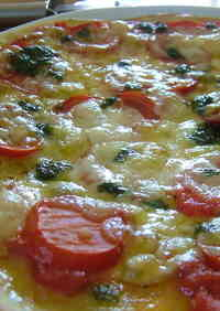 Healthy Crispy Pizza with Okara