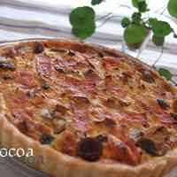 Simple & Genuine Mushroom and Bacon Quiche