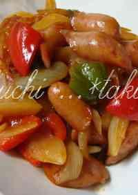 Wiener Sausage and Vegetable Sweet Vinegar Stir-fry