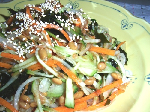 Daikon Radish Salad With Natto