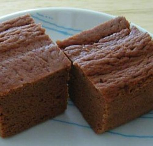 Steamed Okara Powder Bread with Cocoa