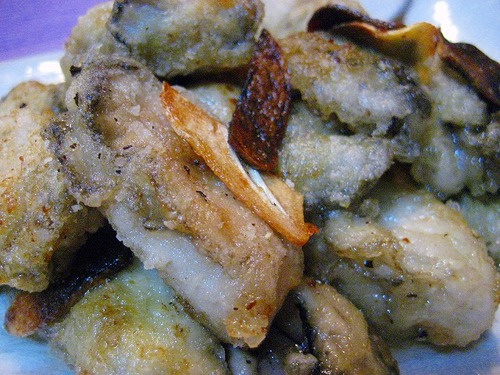 Pan-Fried Crispy Oysters with Garlic