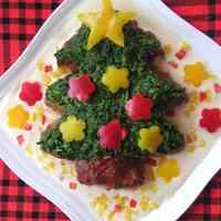 Christmas Tree Hamburger Steak
