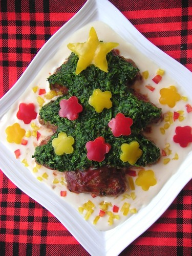 Christmas Tree Hamburger Steak
