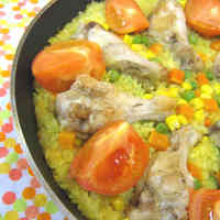 Paella in a Frying Pan