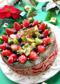 Christmas Fruit Tiramisu Cake