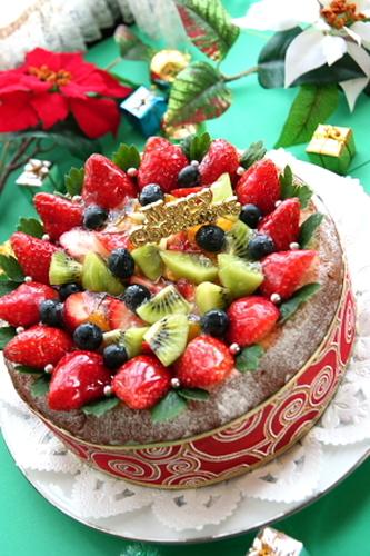 Christmas Fruit Tiramisu Cake