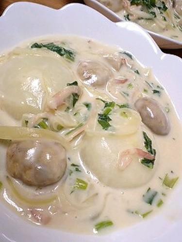 Turnip & Turnip Greens Creamy Simmer