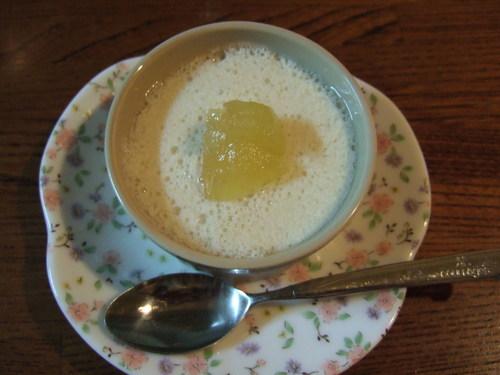Apple & Soy Milk Mousse
