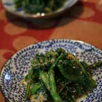 5-Minute Chrysanthemum Greens with Sesame Seeds
