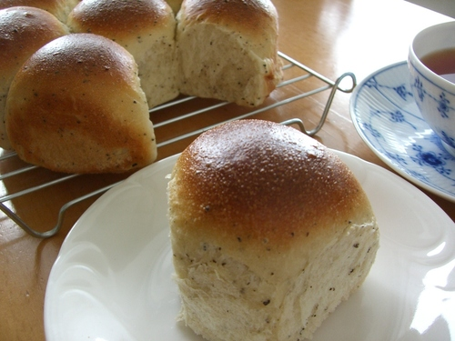 Beautiful Aroma Milk Tea Bread Rolls