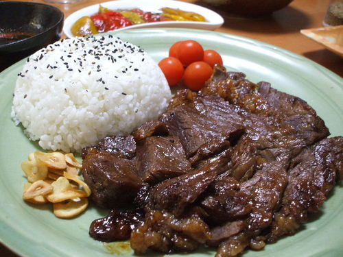 Miso-Marinated Steak (White rice is a must with this)