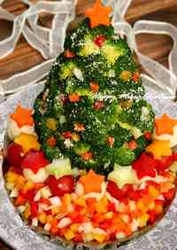 Colorful Christmas Tree Salad