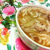 Easy Kimchi Udon Noodles with Chinese Cabbage and Pork