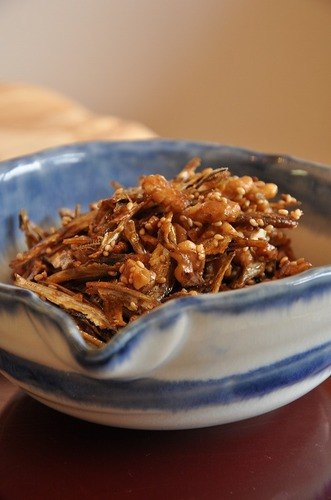 Tazukuri with Walnuts