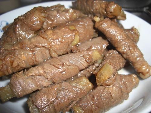 Osechi Hachiman Rolls (Burdock Root Rolled in Meat)
