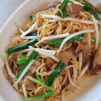 Fried Noodles with Chinese Chives