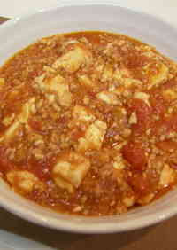 Tomato Mapo Doufu with Minced Chicken