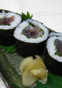 Cured Mackerel Maki Sushi