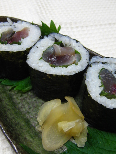 Cured Mackerel Maki Sushi
