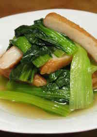 Simmered Komatsuna Greens and Satsuma-Age