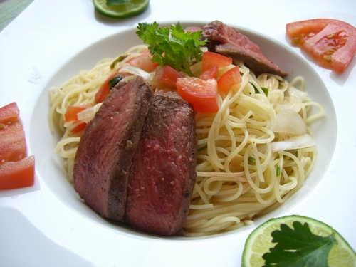 Thai-Style Chilled Beef Pasta
