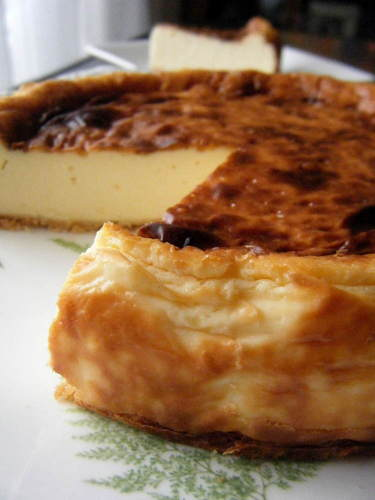 Rich and Browned Camembert Cheesecake