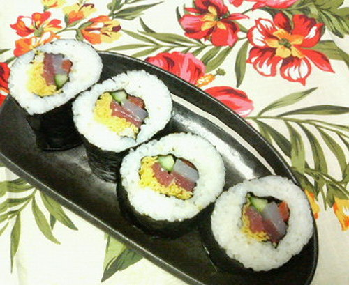 Seafood Ehomaki (Lucky Fat Sushi Rolls)
