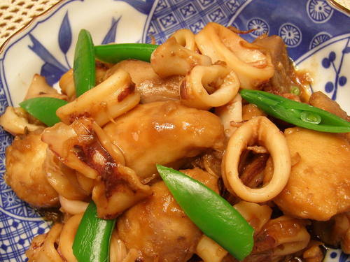 Easy Simmered Taro Roots and Squid