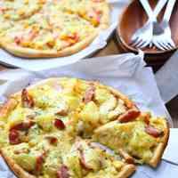 Potato Soy Sauce Butter & Egg Mayo Pizza