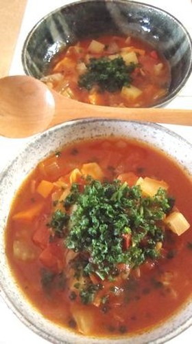 My Mother's Veggie Minestrone Soup