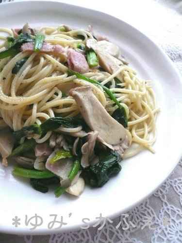 Spinach and Mushroom Spaghetti
