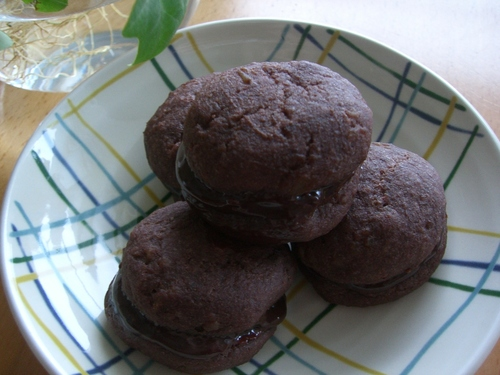 Moist Potato Chocolate Sandwiches