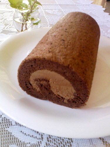 Melt in Your Mouth Chocolate Chiffon Roll Cake