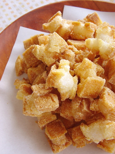 Okaki (Deep Fried) Crackers Made with Pre-Cut Mochi