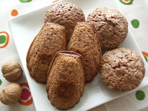 Walnut and Chocolate Madeleines