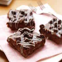 For Valentine's: Ganache Coffee Brownies with Chocolate Coated Barley Puffs