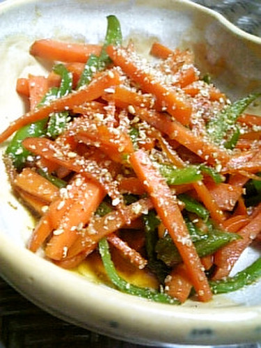Easy Kinpira with Carrot and Bell Peppers!
