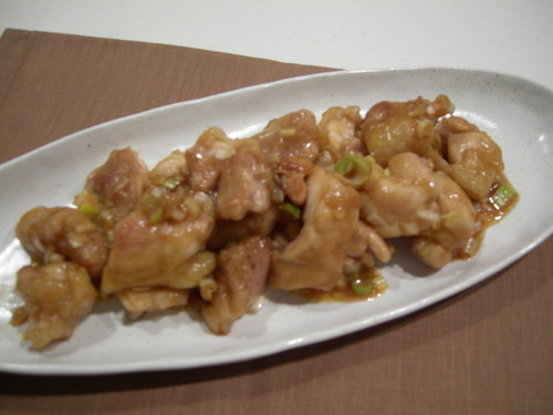 Sweet Vinegar Chicken Saute