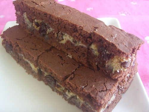 Raisin Cream Cheese Chocolate Squares