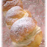 Choux Buns with Cream Cheese Filling