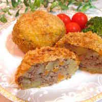Ground Meat and Vegetable Butter Flavored Croquettes