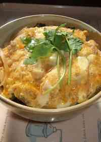 Creamy & Fluffy Egg & Chicken Rice Bowl (for One)