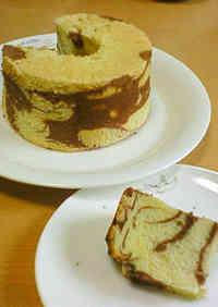 Marbled Chiffon Cake Cocoa Chiffon