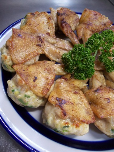 Not to the Brim but...Stuffed Chicken Wing Gyoza