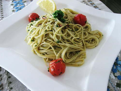 Simple Anchovy Pasta