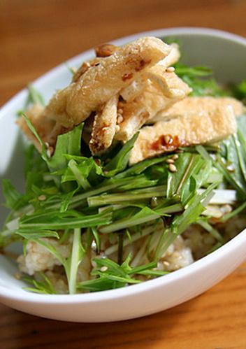 A Beginner's Macrobiotic Dish: Mizuna on Brown Rice