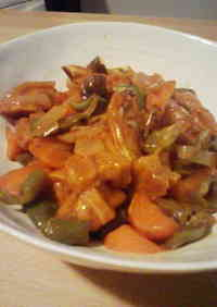 *Macrobiotic*Sweet & Sour Pork Style Stir-fry♪