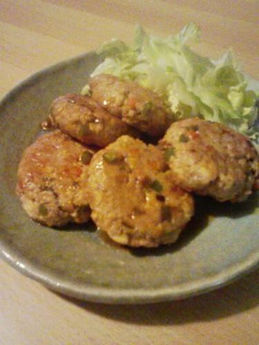 Pork Tsukune Patties with Tofu