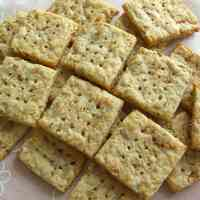 Potato Crackers with Bonito Flakes and Cheese